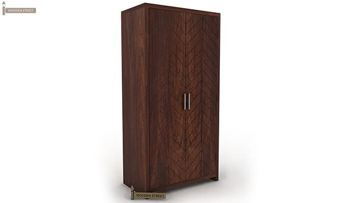 Neeson Multi Utility Wardrobe (Walnut  Finish)-4