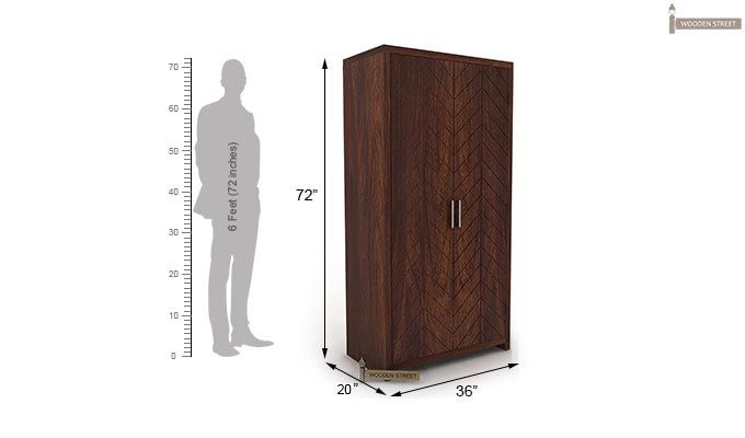 Neeson Multi Utility Wardrobe (Walnut  Finish)-5