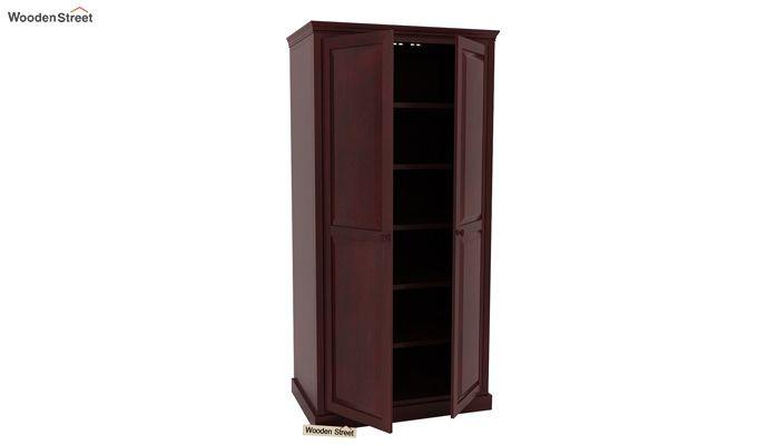 Nixon Multi Utility Wardrobe (Mahogany Finish)-3