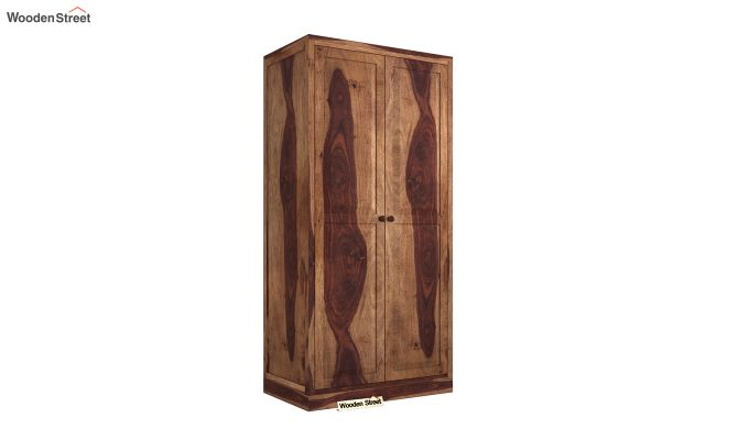 Nixon 2 Door Multi Utility Wardrobe (Teak Finish)-2