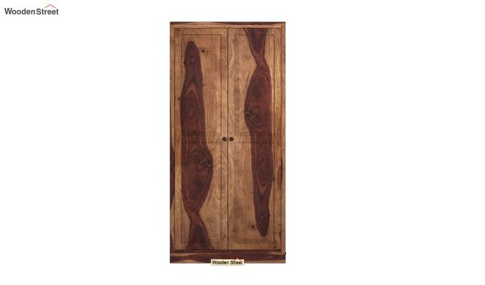 Nixon 2 Door Multi Utility Wardrobe (Teak Finish)-3