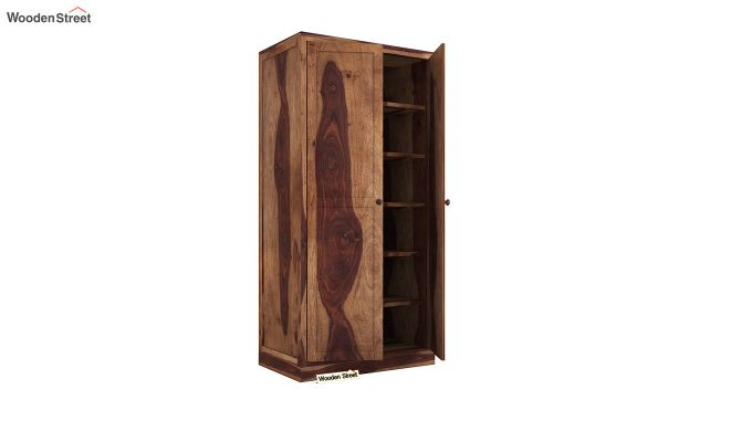 Nixon 2 Door Multi Utility Wardrobe (Teak Finish)-4