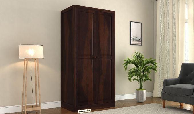 Nixon 2 Door Multi Utility Wardrobe (Walnut Finish)-1