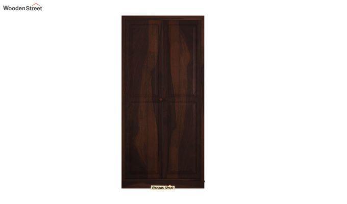 Nixon 2 Door Multi Utility Wardrobe (Walnut Finish)-3