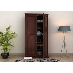 Nixon Multi Utility Wardrobe (Walnut Finish)