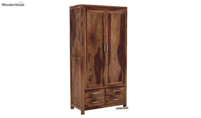 Portus Multi Utility Wardrobe (Teak Finish)-3