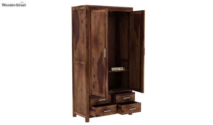 Portus Multi Utility Wardrobe (Teak Finish)-5