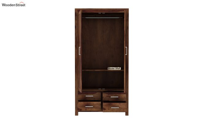 Portus Multi Utility Wardrobe (Teak Finish)-6