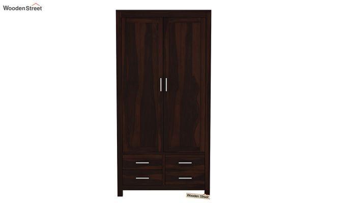 Portus Multi Utility Wardrobe (Walnut Finish)-4