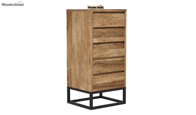 Ray Loft Chest Of Five Drawer  (Natural Finish)-2