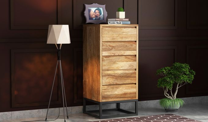 Ray Loft Chest Of Five Drawer  (Natural Finish)-1