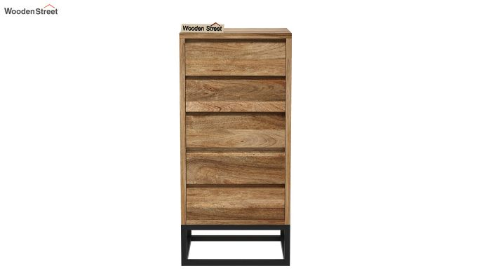 Ray Loft Chest Of Five Drawer (Natural Finish)-3