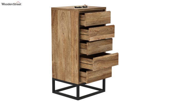Ray Loft Chest Of Five Drawer (Natural Finish)-4