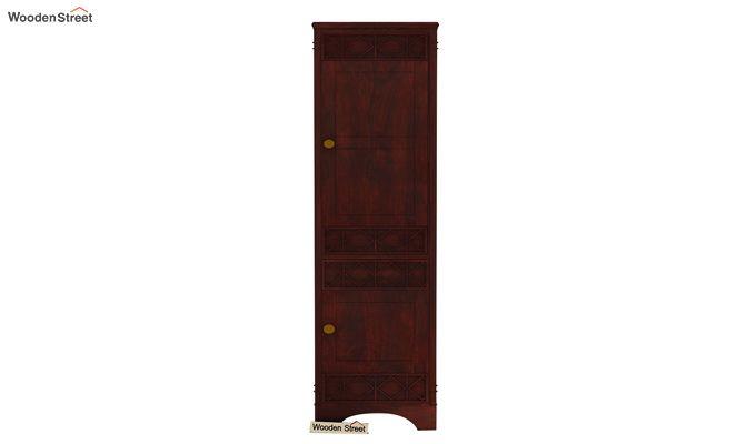 Swirl 1 Door Multi-Utility Wardrobe (Mahogany Finish)-2