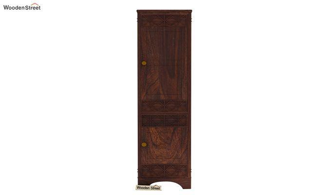 Swirl 1 Door Multi-Utility Wardrobe (Walnut Finish)-3