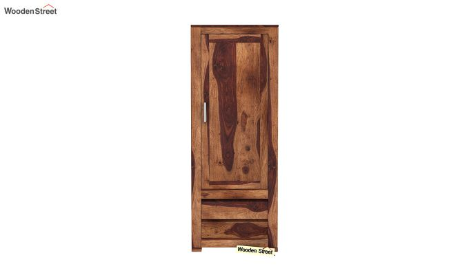 Theo 1 Door Multi-Utility Wardrobe (Teak Finish)-3