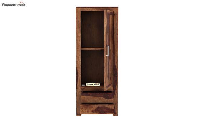 Theo 1 Door Multi-Utility Wardrobe (Teak Finish)-5