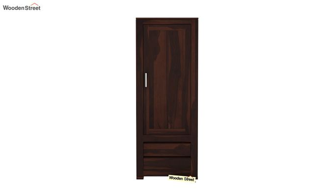 Theo 1 Door Multi-Utility Wardrobe (Walnut Finish)-3