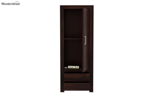 Theo 1 Door Multi-Utility Wardrobe (Walnut Finish)-5
