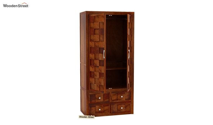 Travis Multi Utility Wardrobe (Honey Finish)-1