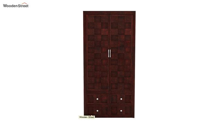 Travis Multi Utility Wardrobe (Mahogany Finish)-4