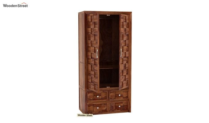 Travis Multi Utility Wardrobe (Teak Finish)-1
