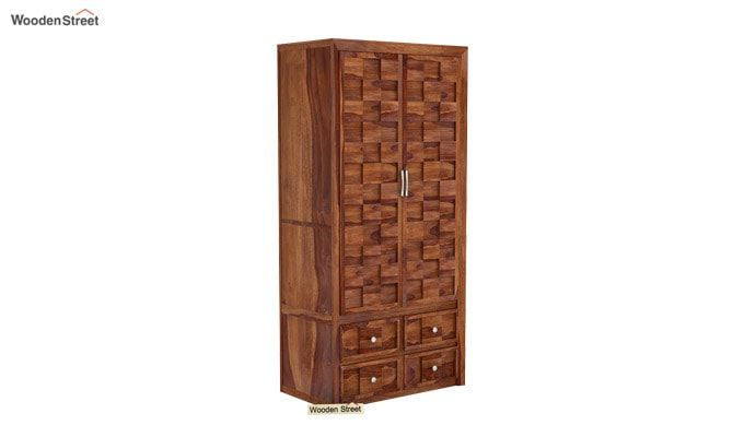 Travis Multi Utility Wardrobe (Teak Finish)-2