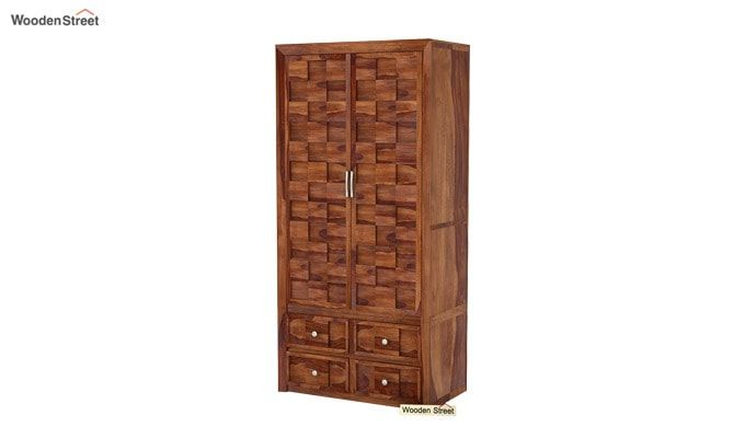 Travis Multi Utility Wardrobe (Teak Finish)-3