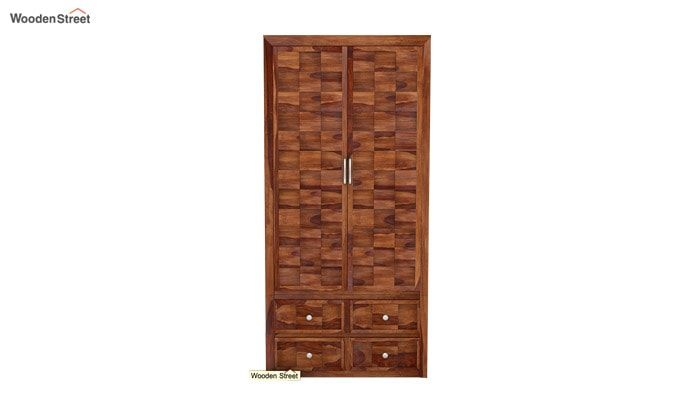Travis Multi Utility Wardrobe (Teak Finish)-4