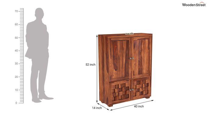 Travis Small Size Wardrobe (Honey Finish)-5