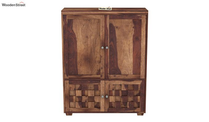 Travis Small Size Wardrobe (Teak Finish)-3