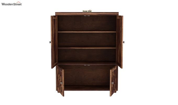 Travis Small Size Wardrobe (Teak Finish)-4