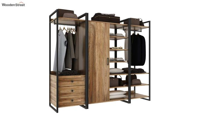 Vegas Multi Utility Loft Wardrobe (Natural Finish)-2