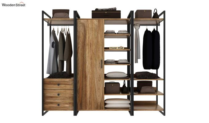 Vegas Multi Utility Loft Wardrobe (Natural Finish)-3