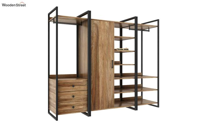 Vegas Multi Utility Loft Wardrobe (Natural Finish)-5