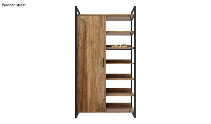 Vegas Multi Utility Loft Wardrobe (Natural Finish)-7
