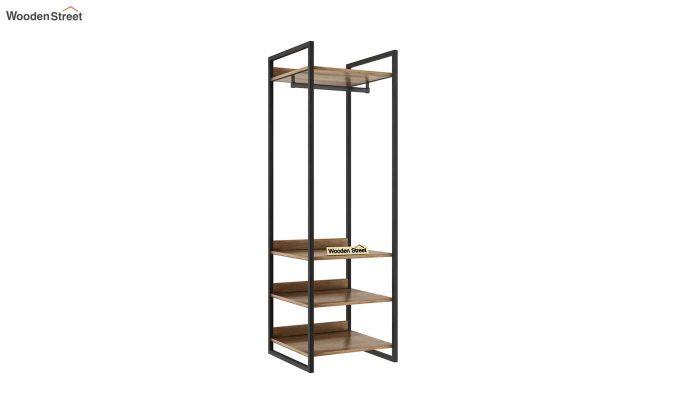 Vegas Loft Wardrobe with Shelves (Natural Finish)-2