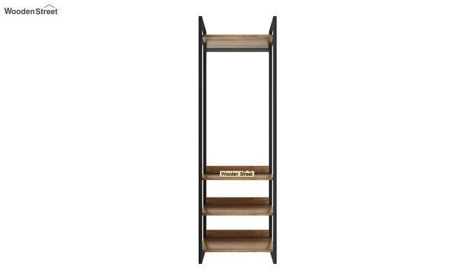 Vegas Loft Wardrobe with Shelves (Natural Finish)-3