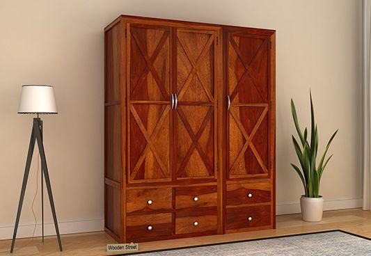 price for wooden wardrobe online