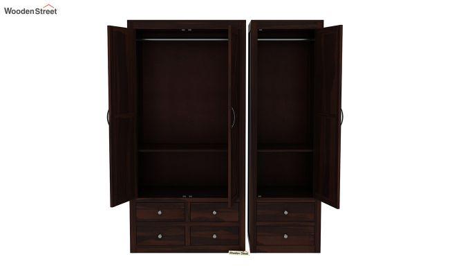 Warner 3 Door Multi Utility Wardrobe (Walnut Finish)-8