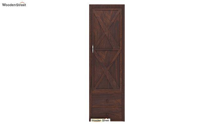 Warner 1 Door Multi Utility Wardrobe (Walnut Finish)-3