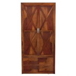 Warner Multi Utility Wardrobe (Honey Finish)