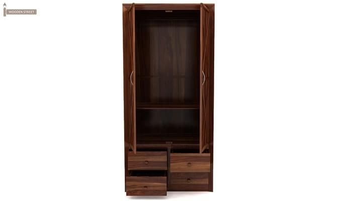 Warner Multi Utility Wardrobe (Teak Finish)-2