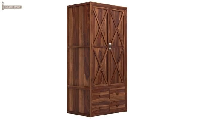 Warner Multi Utility Wardrobe (Teak Finish)-3