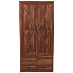 Warner Multi Utility Wardrobe (Teak Finish)