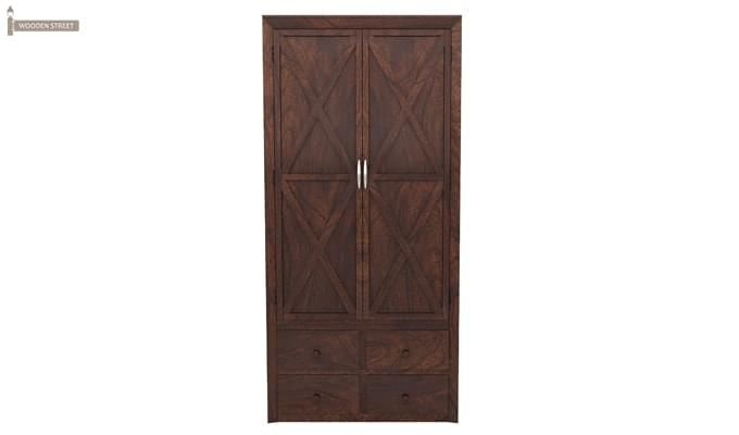 Warner Multi Utility Wardrobe (Walnut Finish)-1