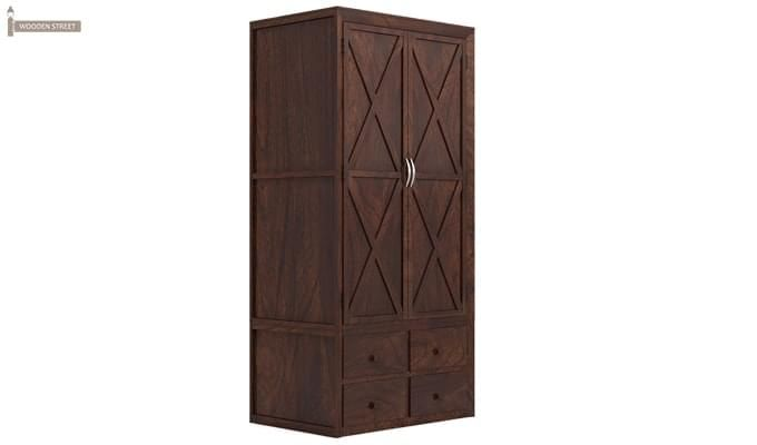 Warner Multi Utility Wardrobe (Walnut Finish)-2