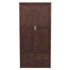 Warner Multi Utility Wardrobe (Walnut Finish)