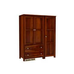 Zed Multi Utility Wardrobe (Honey Finish)