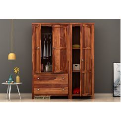 Zed Multi Utility Wardrobe (Teak Finish)